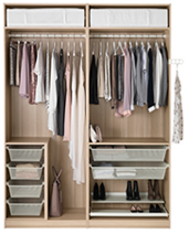 amenagement dressing ikea. Black Bedroom Furniture Sets. Home Design Ideas