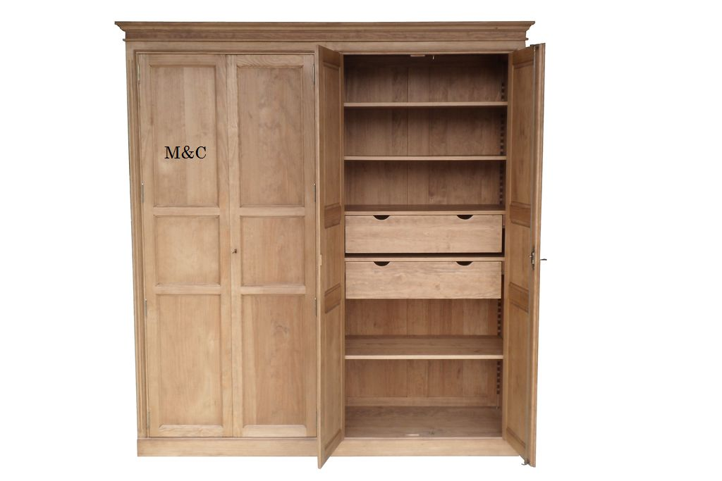 Simple armoire dressing bois massif with armoire conforama for Armoire bois conforama