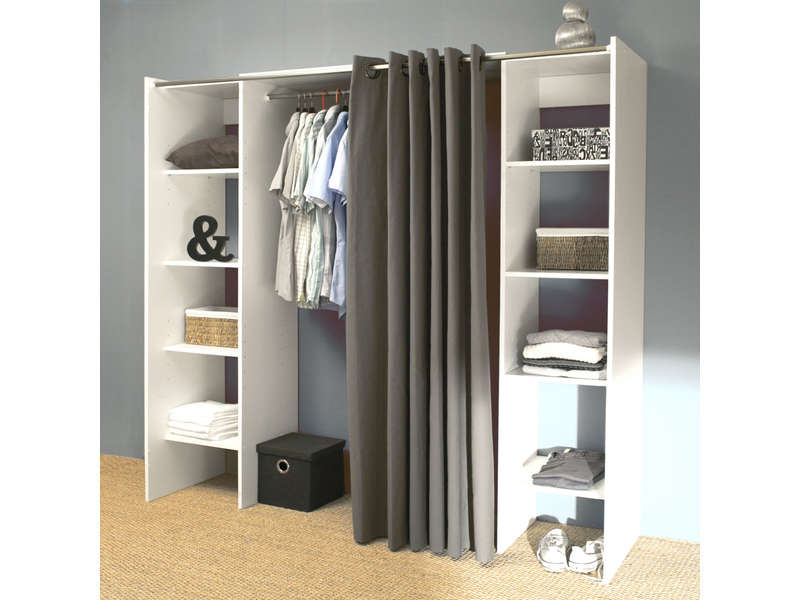 Dressing conforama for Armoire penderie blanc conforama