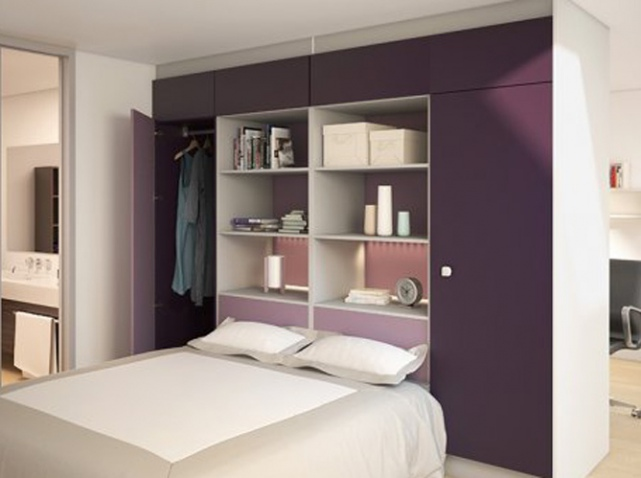 dressing derrire tete de lit free dressing chene honey. Black Bedroom Furniture Sets. Home Design Ideas