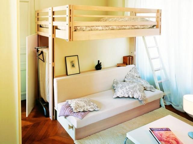 lit mezzanine avec dressing