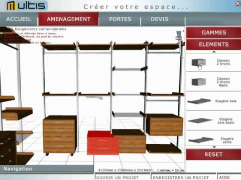 logiciel amenagement dressing